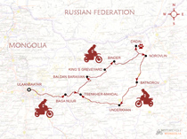 KTM Master Rally Motorcycle Tour Map